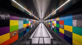 Sleek design of Munich's subway
