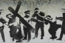 Fake Easter 'Banksy' Artwork Appears Round London Bridge