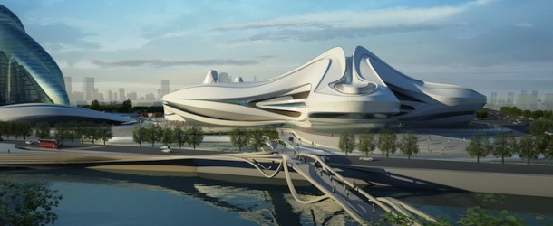 Zaha Hadid's Modern Art Center Unveiled in China