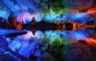 Multicolored Stalagmites and Stalactites in China